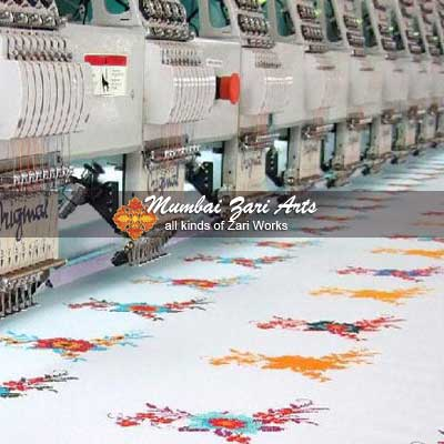 Computer embroidery works by Mumbai Zari Arts